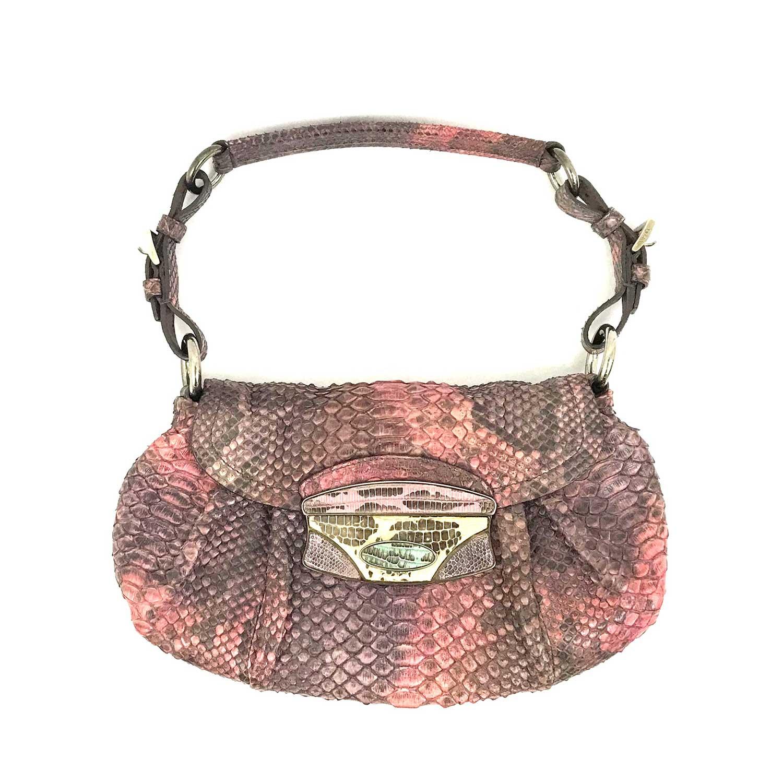 Bolsa Prada Python Rosa