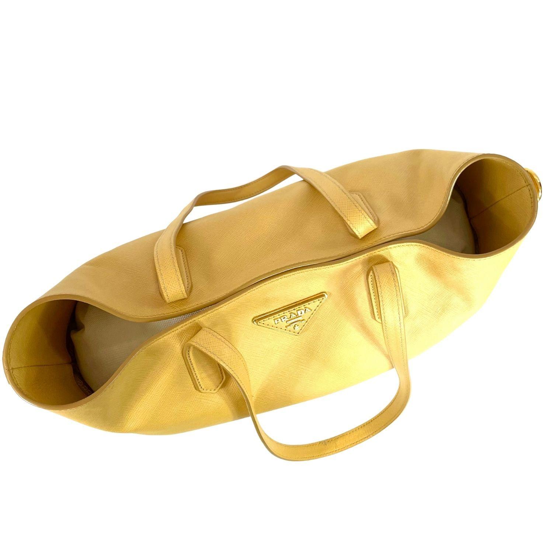 Bolsa Prada Saffiano Tote Amarela