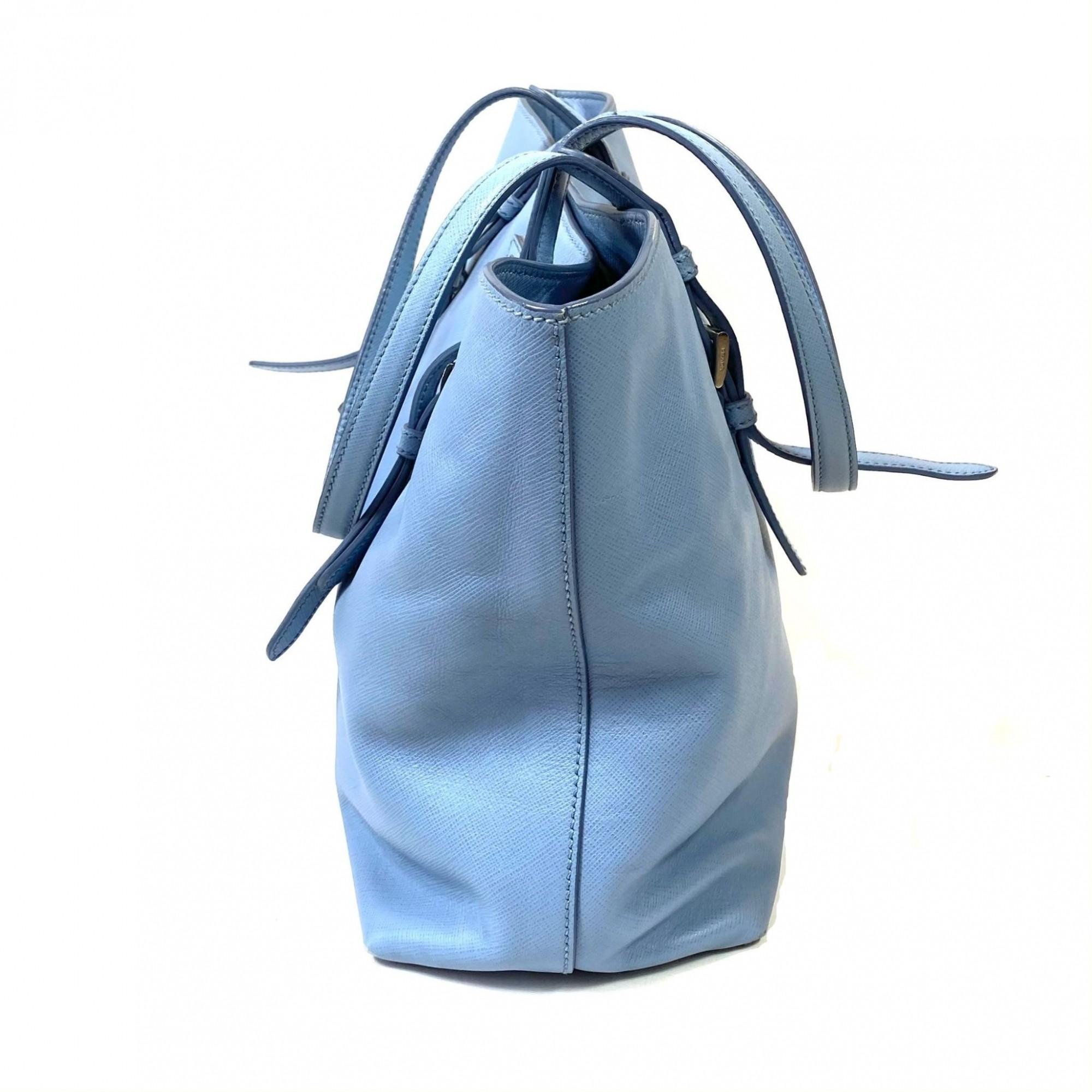 Bolsa Prada Saffiano Tote Azul