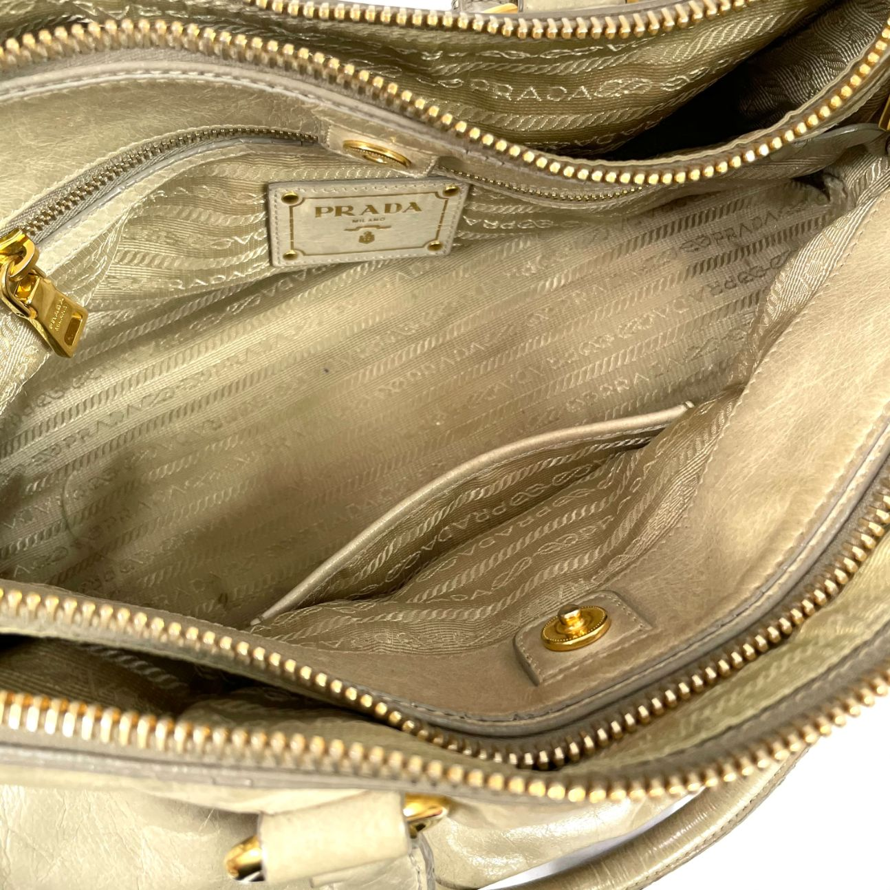 Bolsa Prada Vittelo Antik Marfim