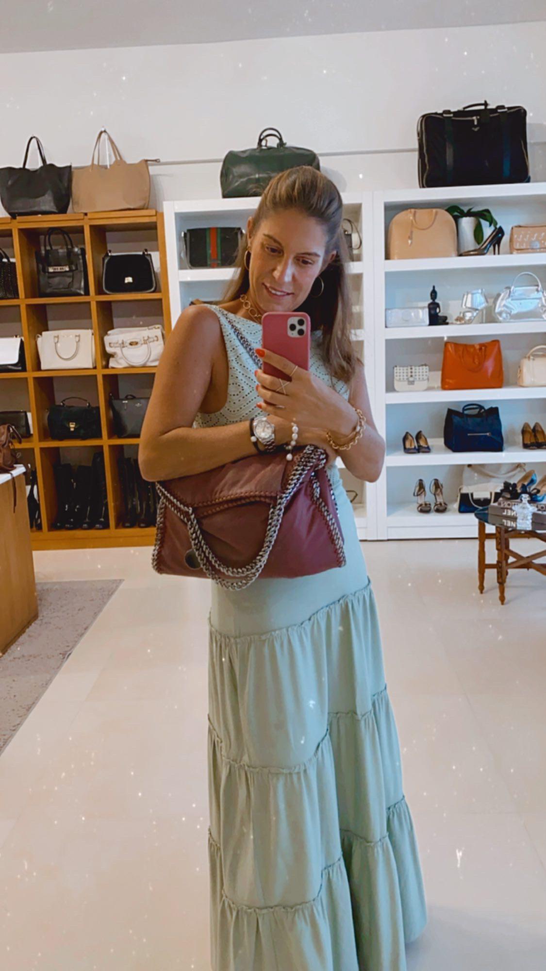 Bolsa Stella McCartney Falabella Vinho