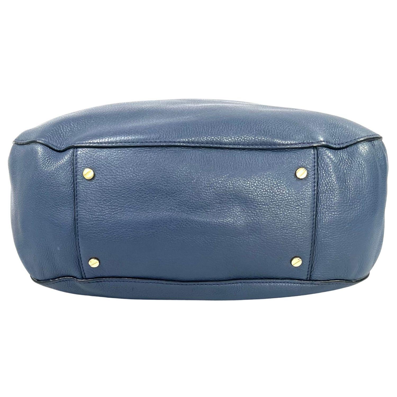 Bolsa Tory Burch Logo Azul
