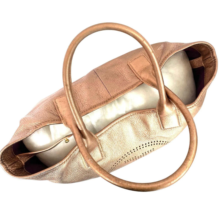 Bolsa Tory Burch Perforated Logo Rosé Gold