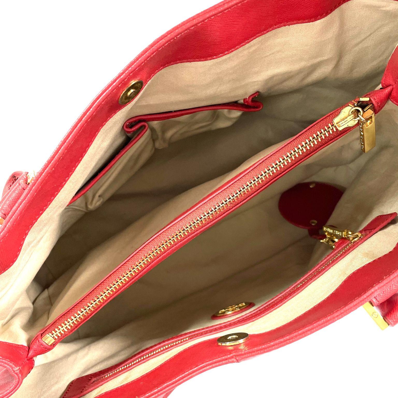 Bolsa Tory Burch Tote Vermelha