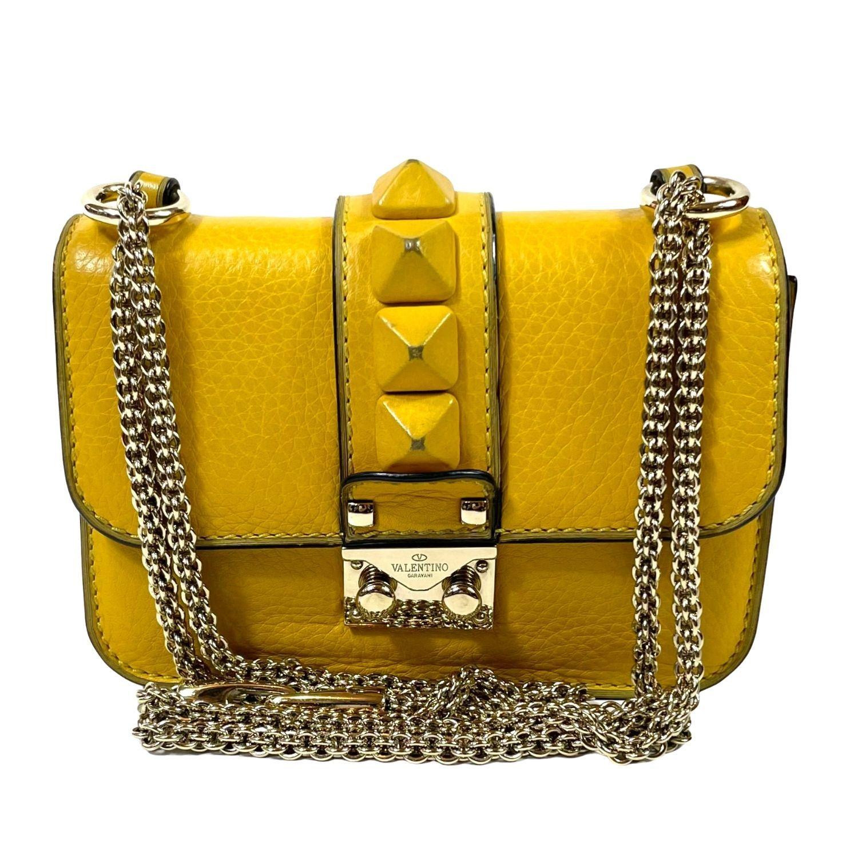 Bolsa Valentino Glam Lock Mostarda