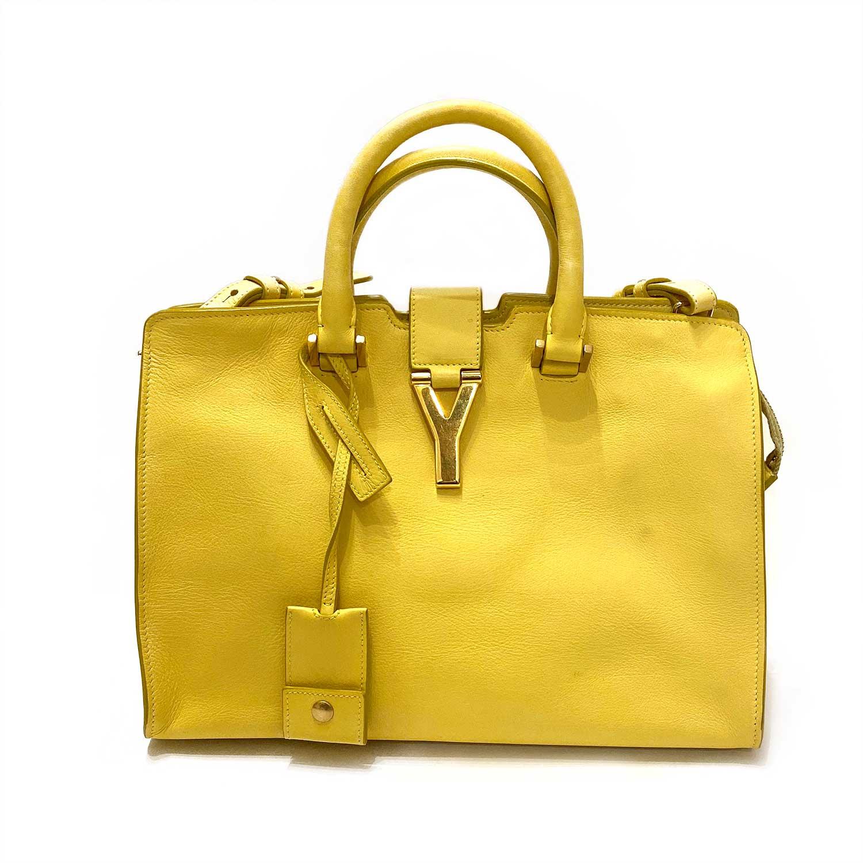 Bolsa Yves Saint Laurent Cabas Chyc Amarela