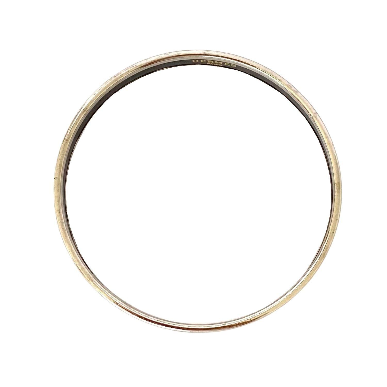 Bracelete Hermès Calèche Narrow Branco