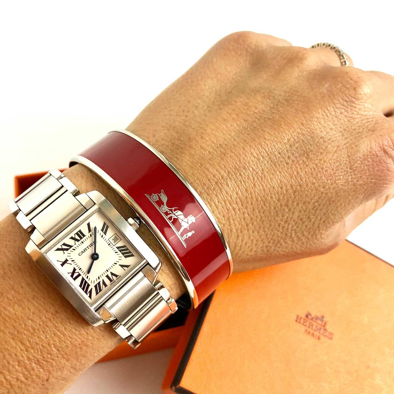 Bracelete Hermes Vinho