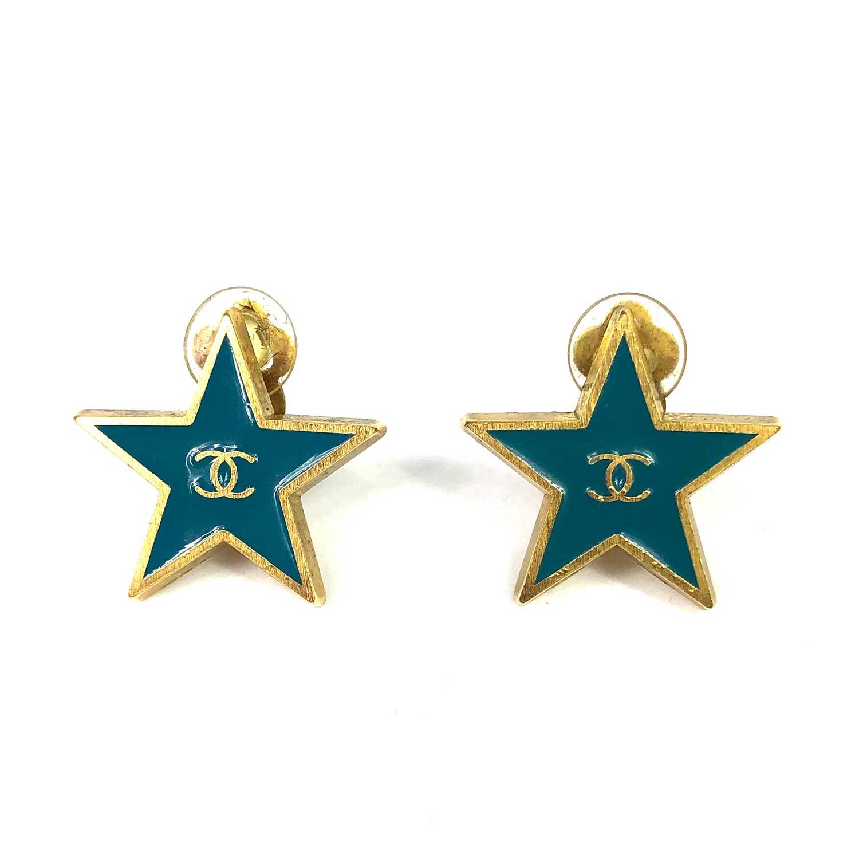 Brinco Chanel Estrela Pressão