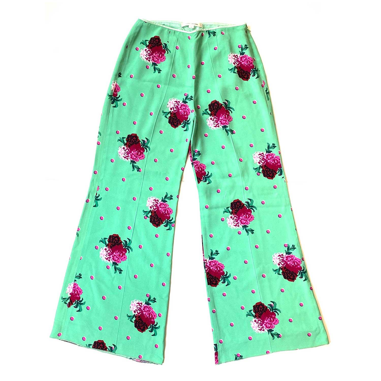 Calça Marc Jacobs Verde Floral