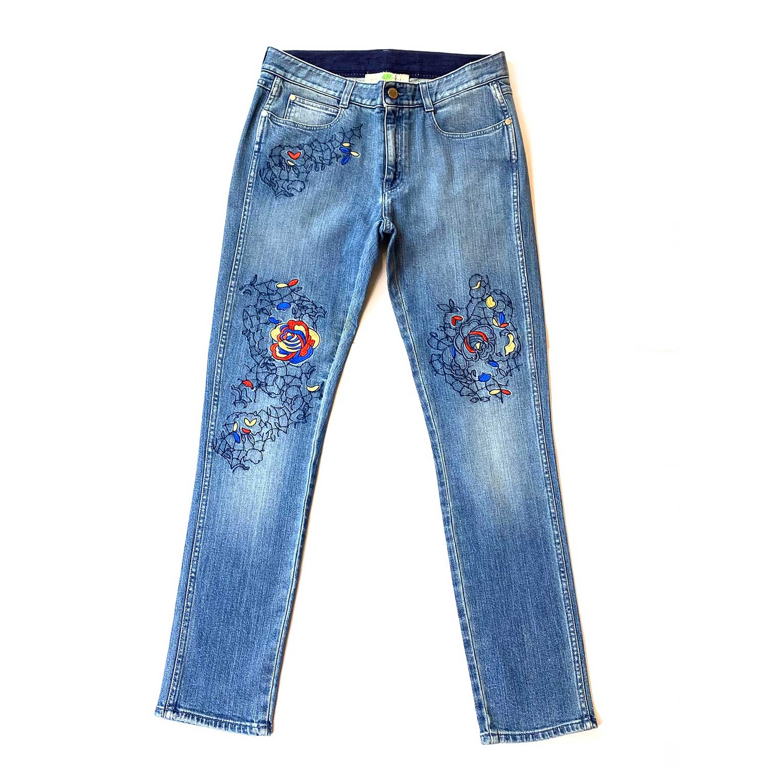 Calça Jeans Stella Mc Cartney Bordada
