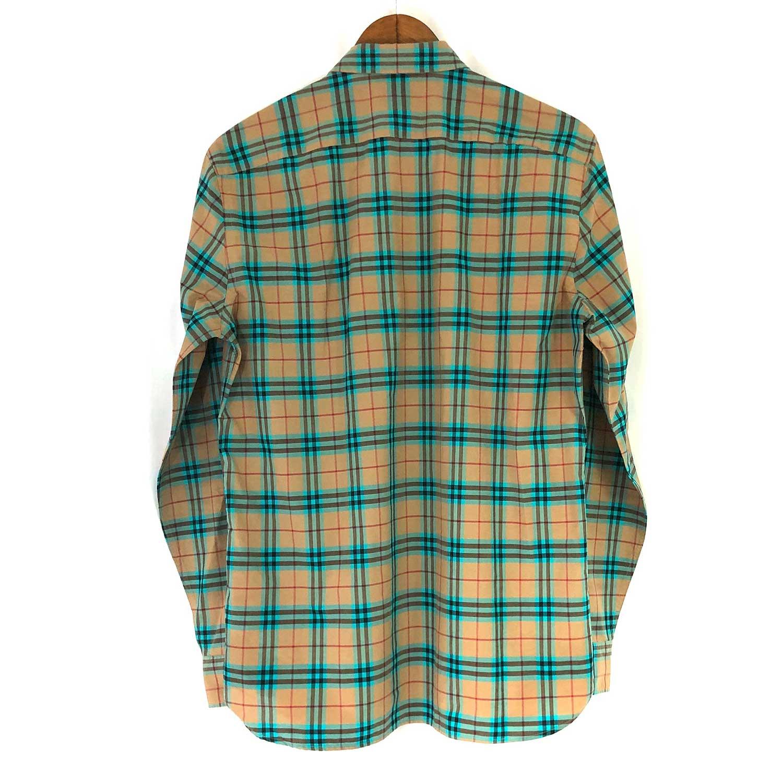 Camisa Burberry Xadrez Beige, Marrom e Azul