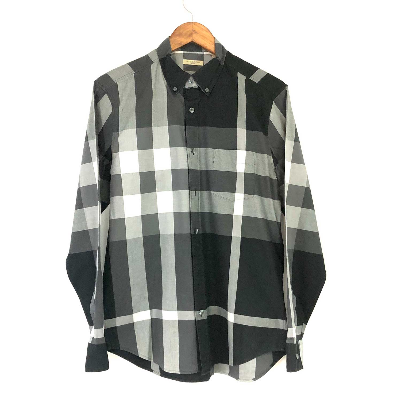 Camisa Burberry Xadrez Cinza e Preto