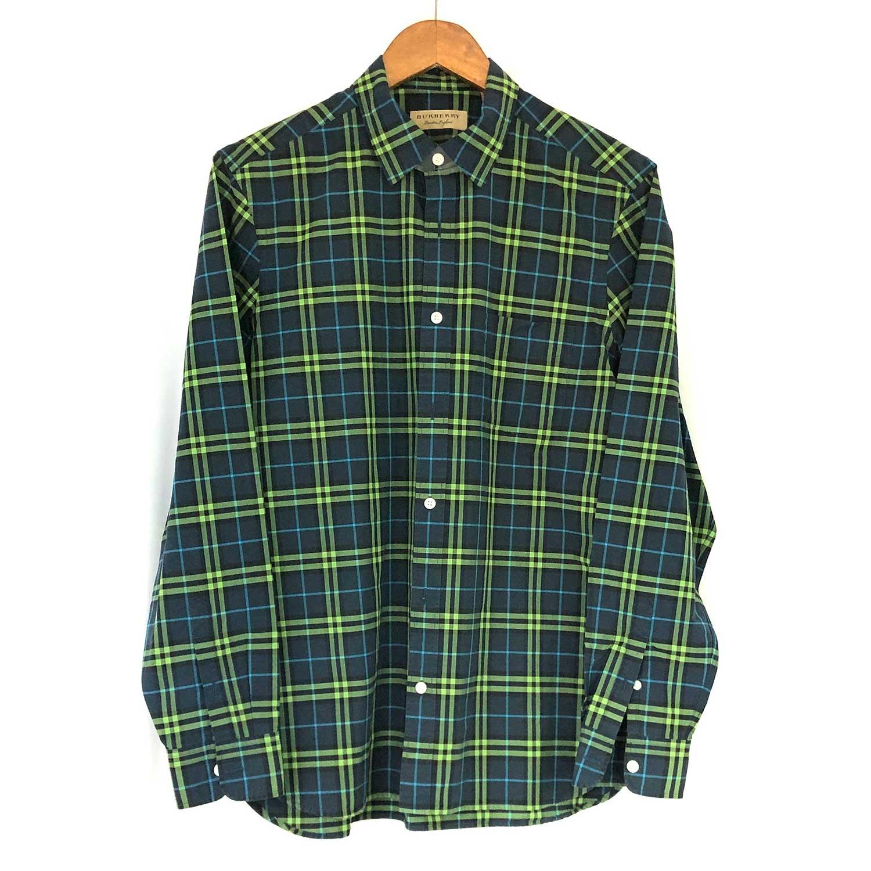 Camisa Burberry Xadrez Verde e Azul