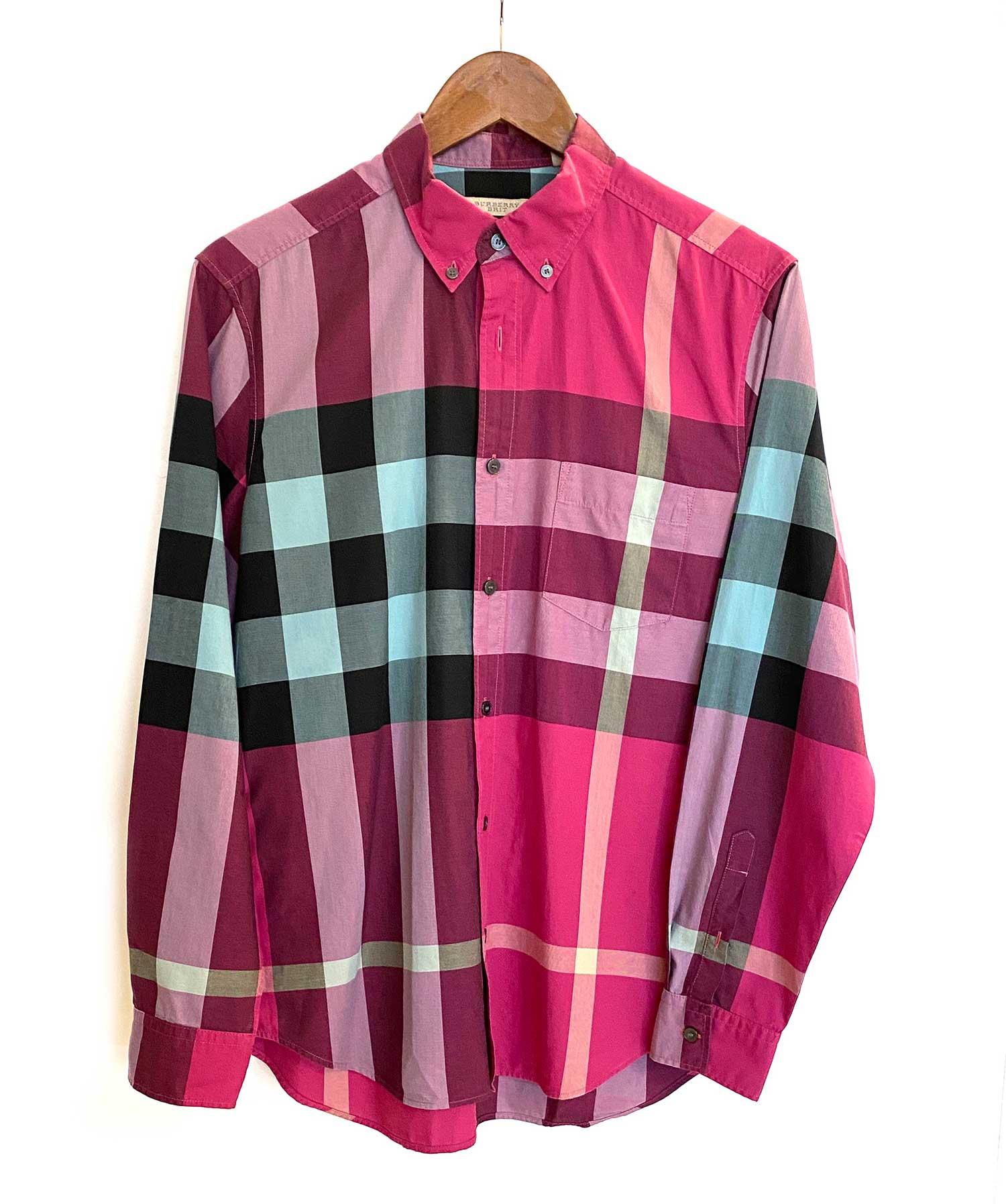 Camisa Burberry Xadrez Vinho