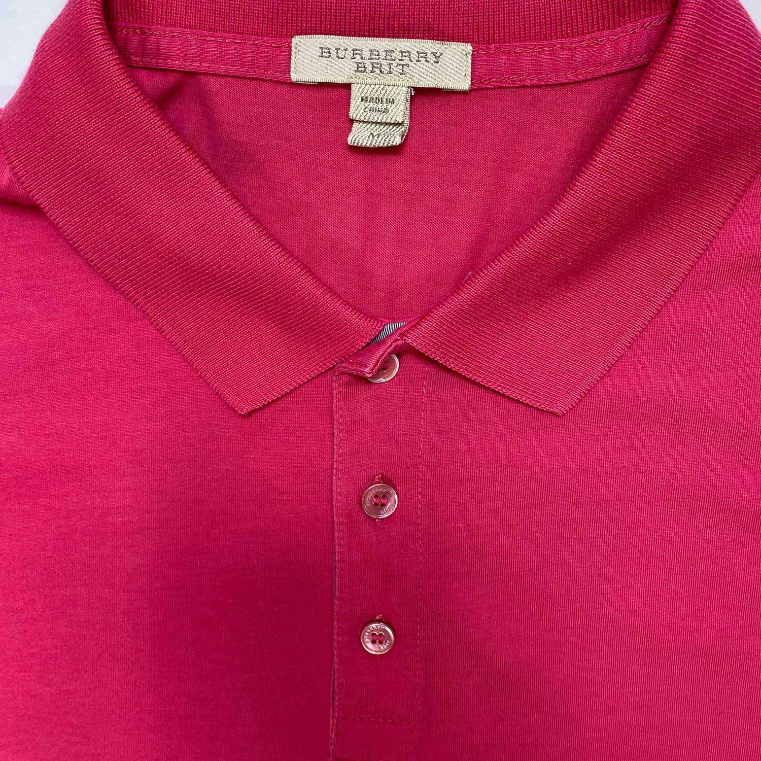 Camisa Polo Burberry Rosa