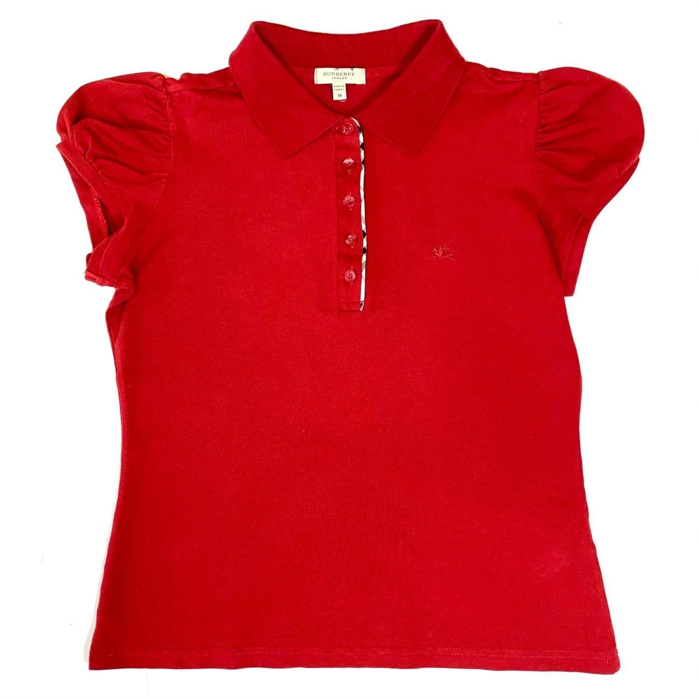 Camisa Polo Burberry Vinho