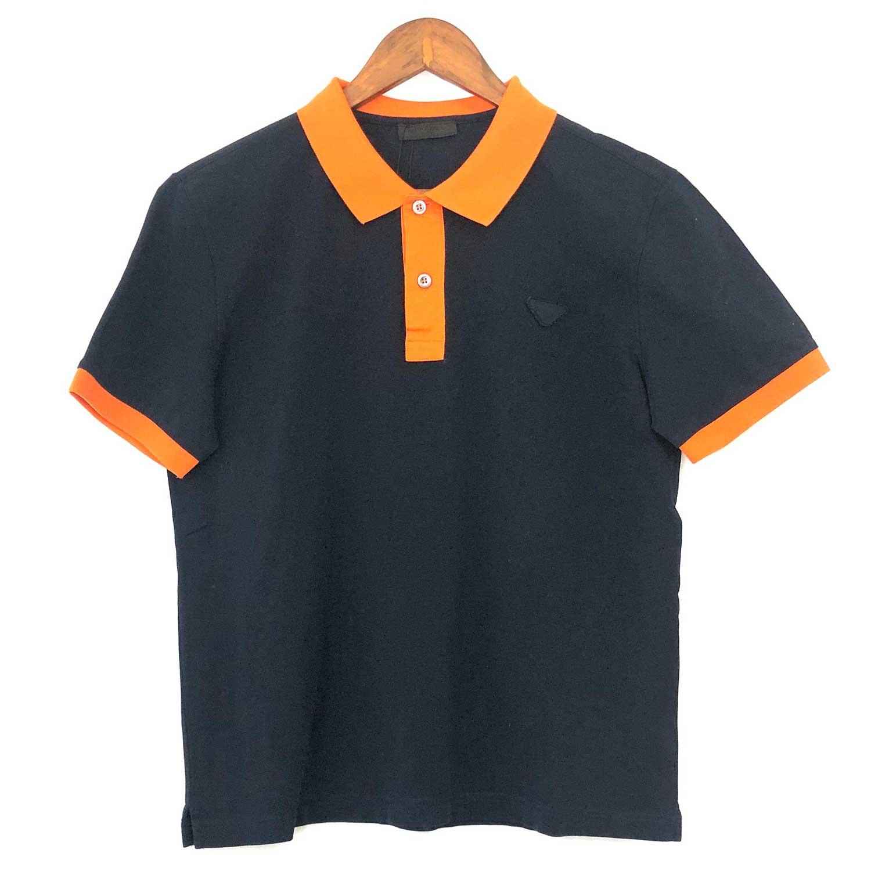 Camisa Polo Prada Azul e Laranja