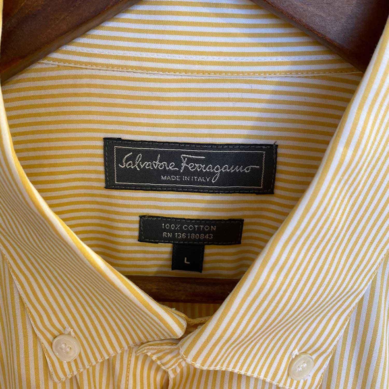 Camisa Salvatore Ferragamo Amarela