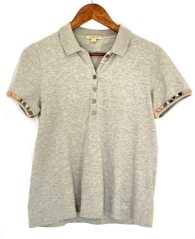 c0233a1fca Camiseta Polo Burberry L Cinza