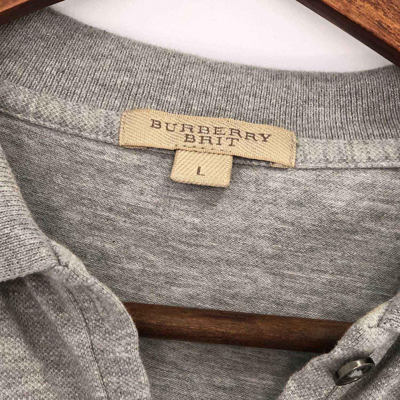 Camiseta Polo Burberry L Cinza