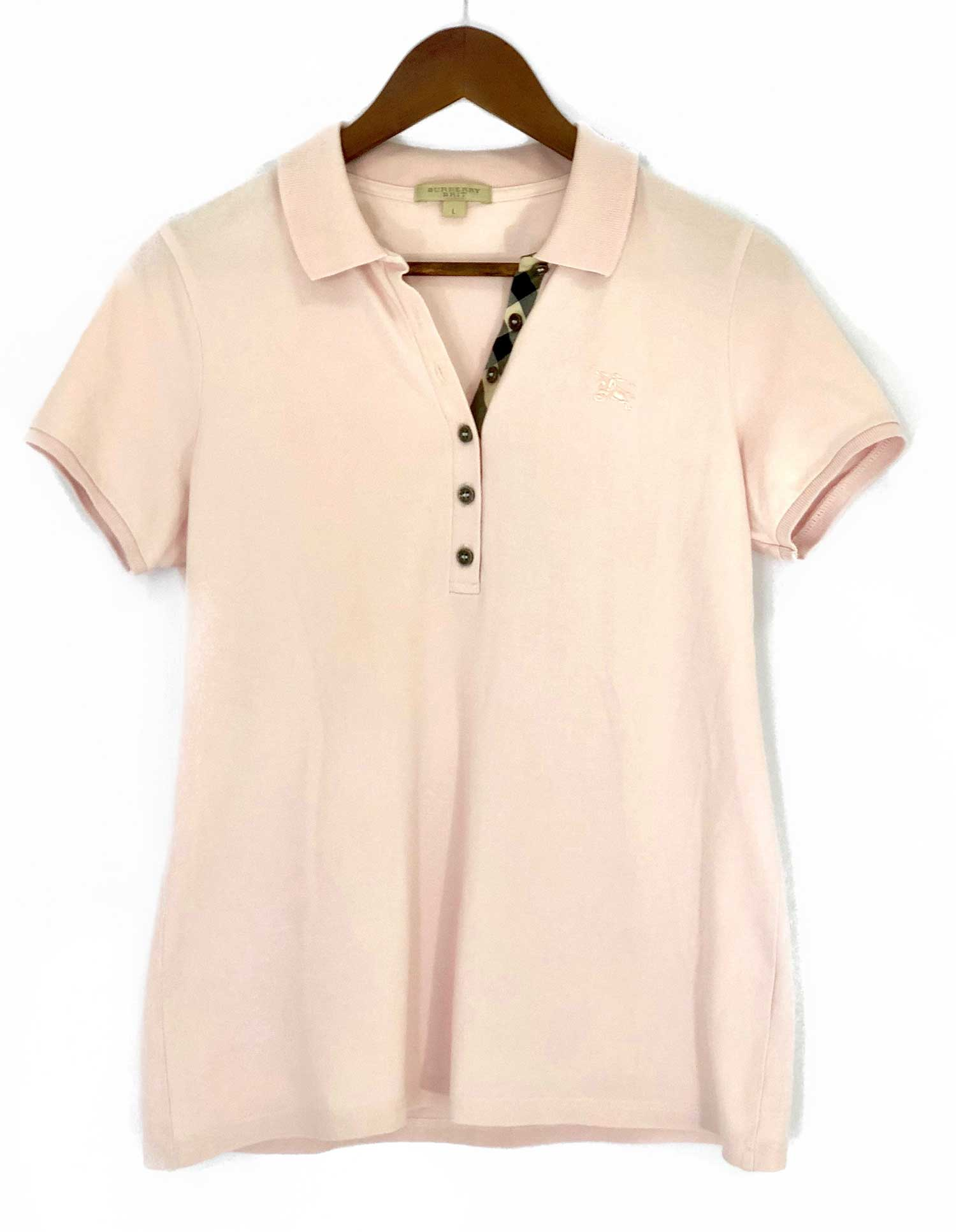Camiseta Polo Burberry L Rosa