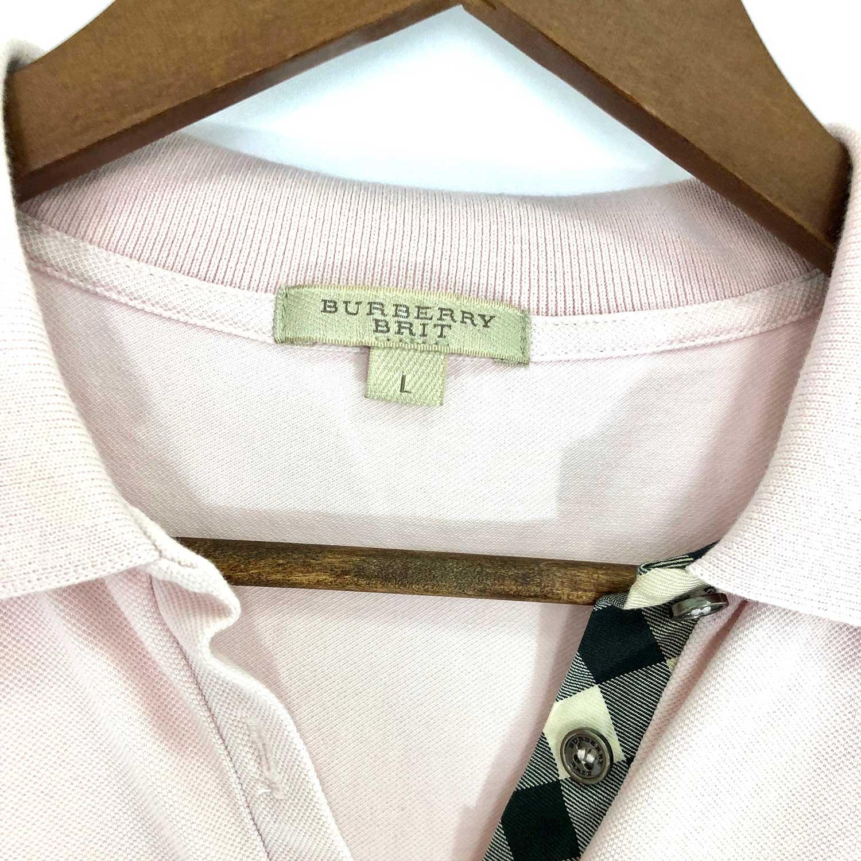 Camiseta Polo Burberry L Rosa