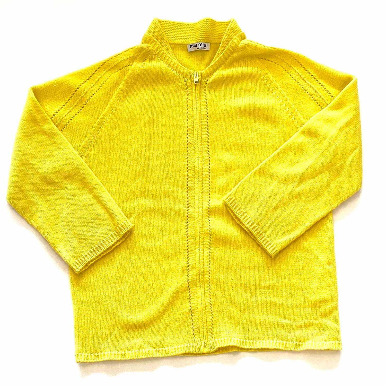 Cardigan Miu Miu Amarelo