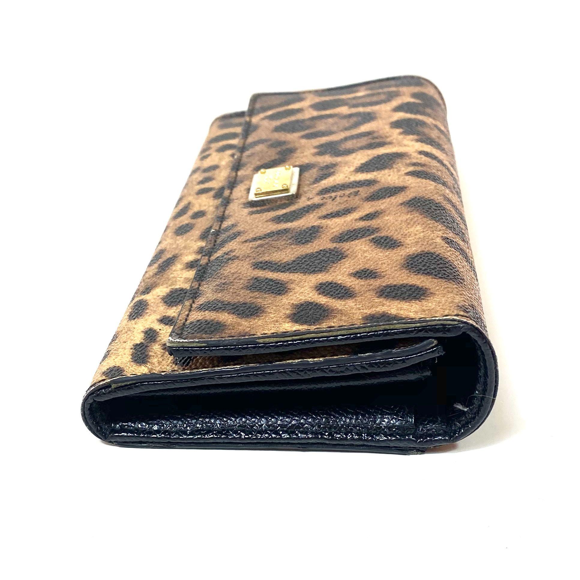 Carteira D&G Leopardo