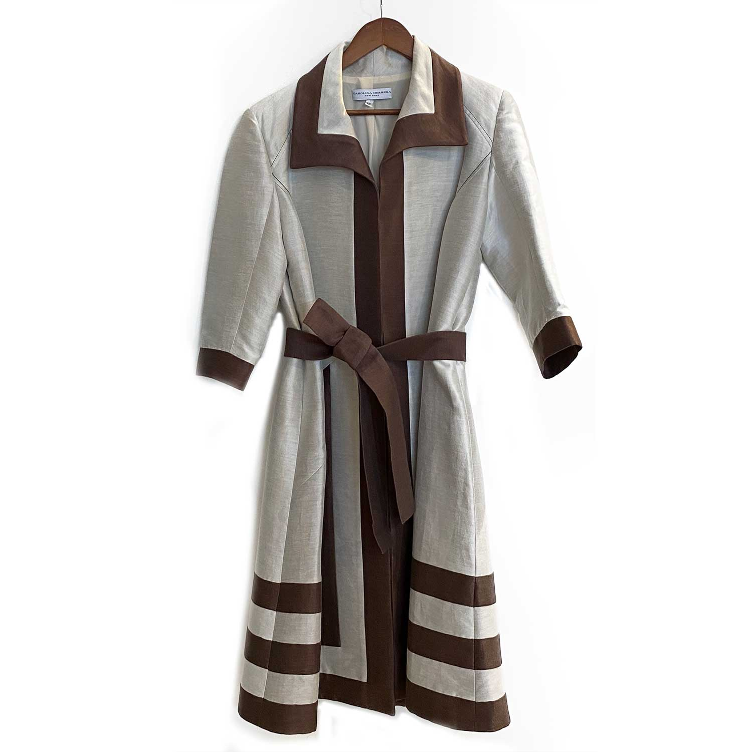 Trench Coat Carolina Herrera Beige e Marrom