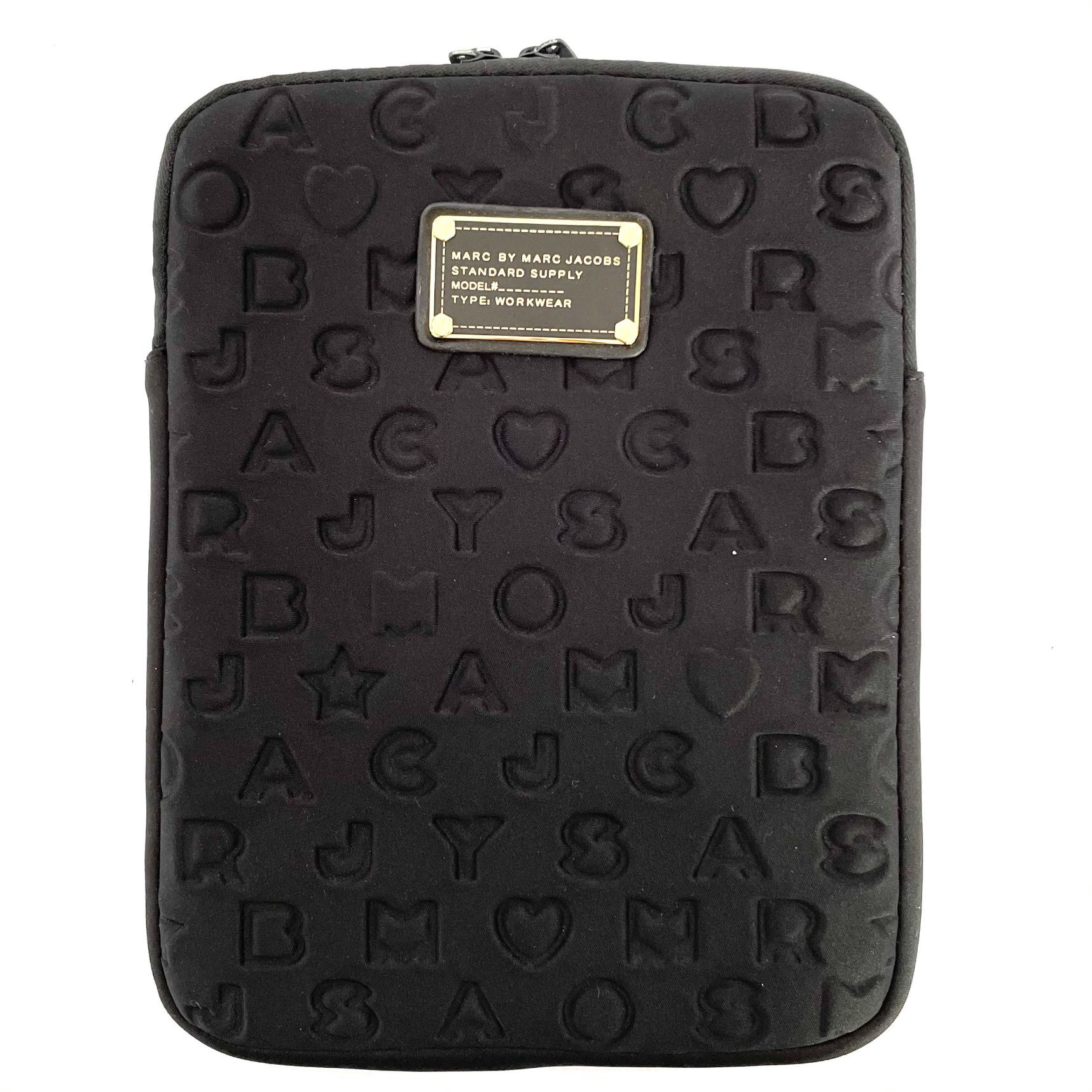 Case Ipad Marc Jacobs Embossed Preta