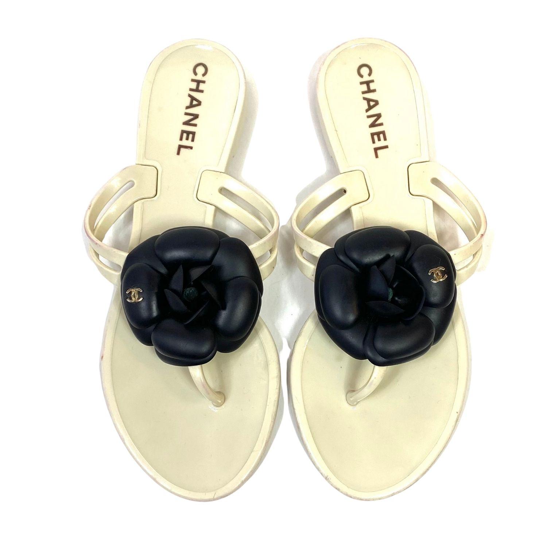 Chinelo Chanel Camélia Bicolor