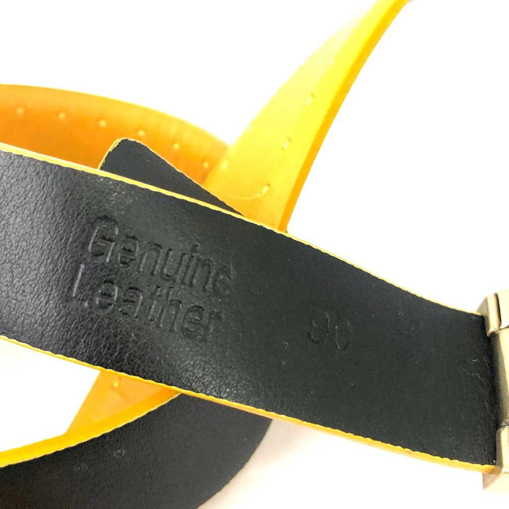 Cinto Ermenegildo Zegna Amarelo