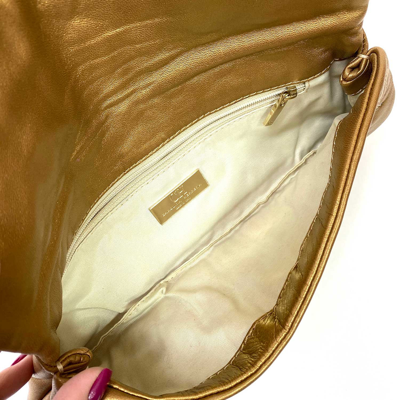 Bolsa Clutch Carolina Herrera Jerry Dourada