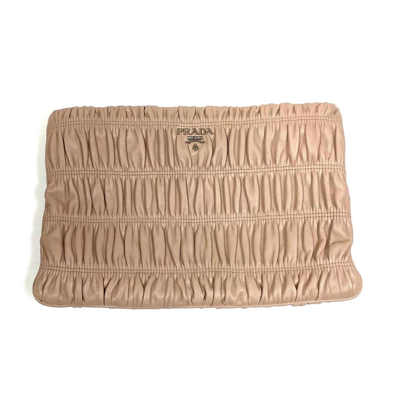 Bolsa Clutch Prada Nappa Gaufre