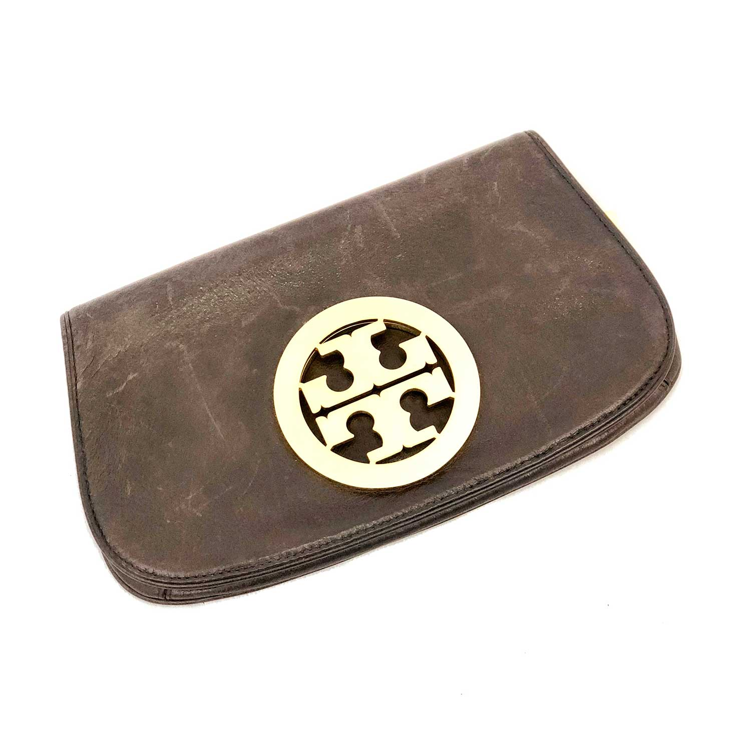 Clutch Tory Burch Marrom