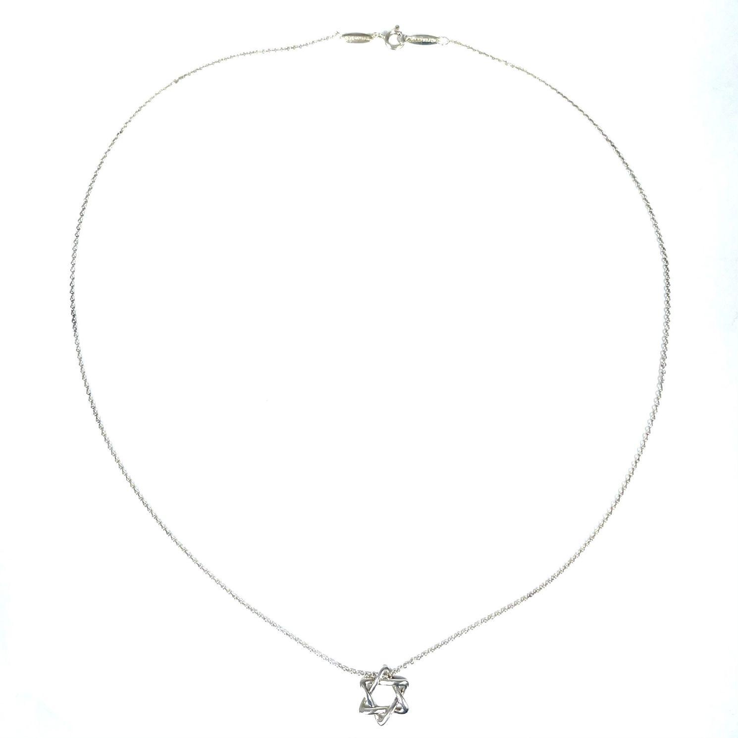Colar Tiffany&CO Pendente Estrela de Davi
