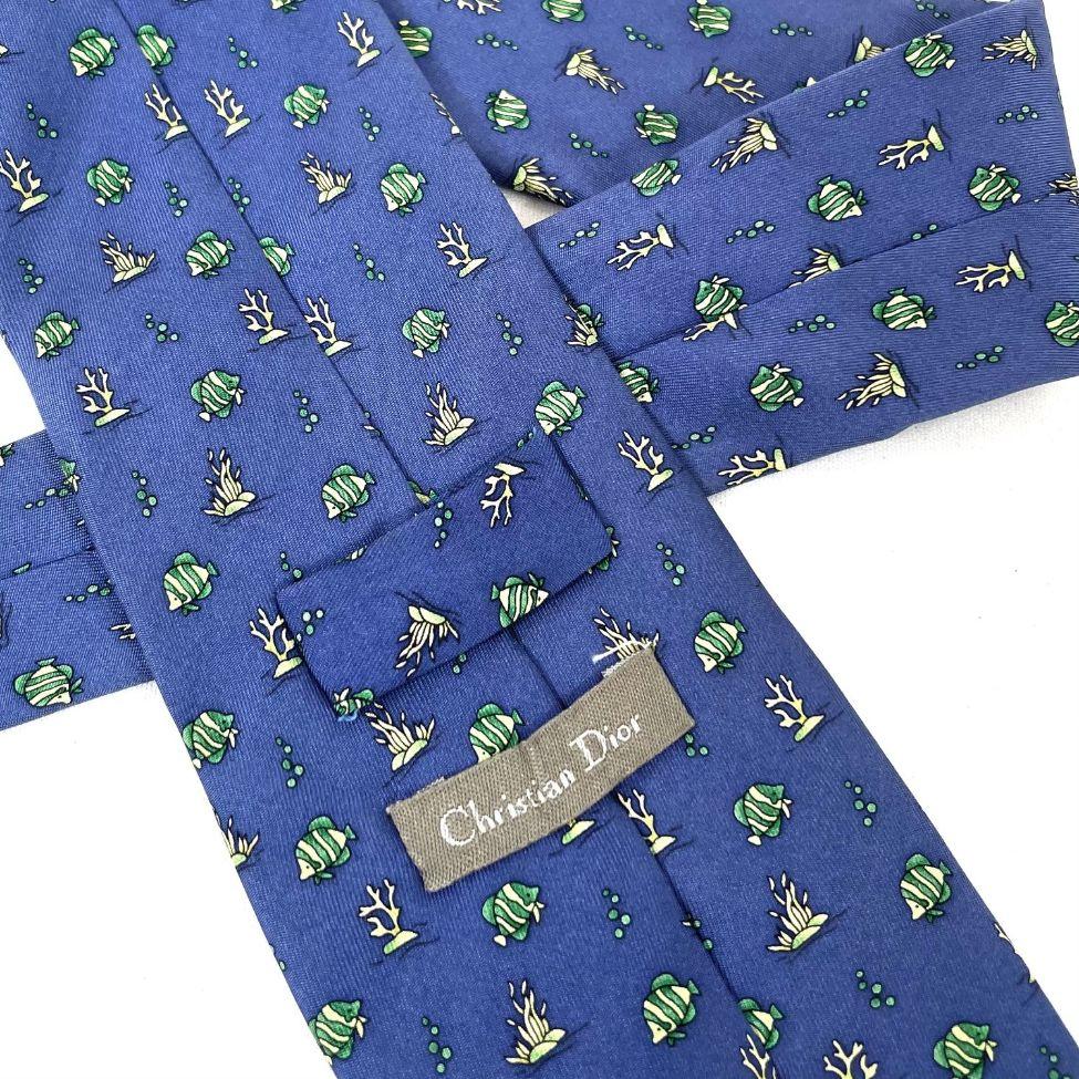Gravata Dior Peixe Azul