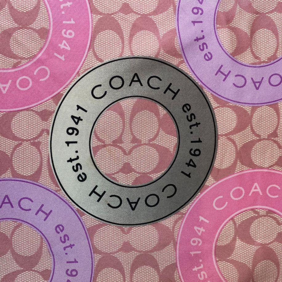 Lenço Coach Estampado Lilás