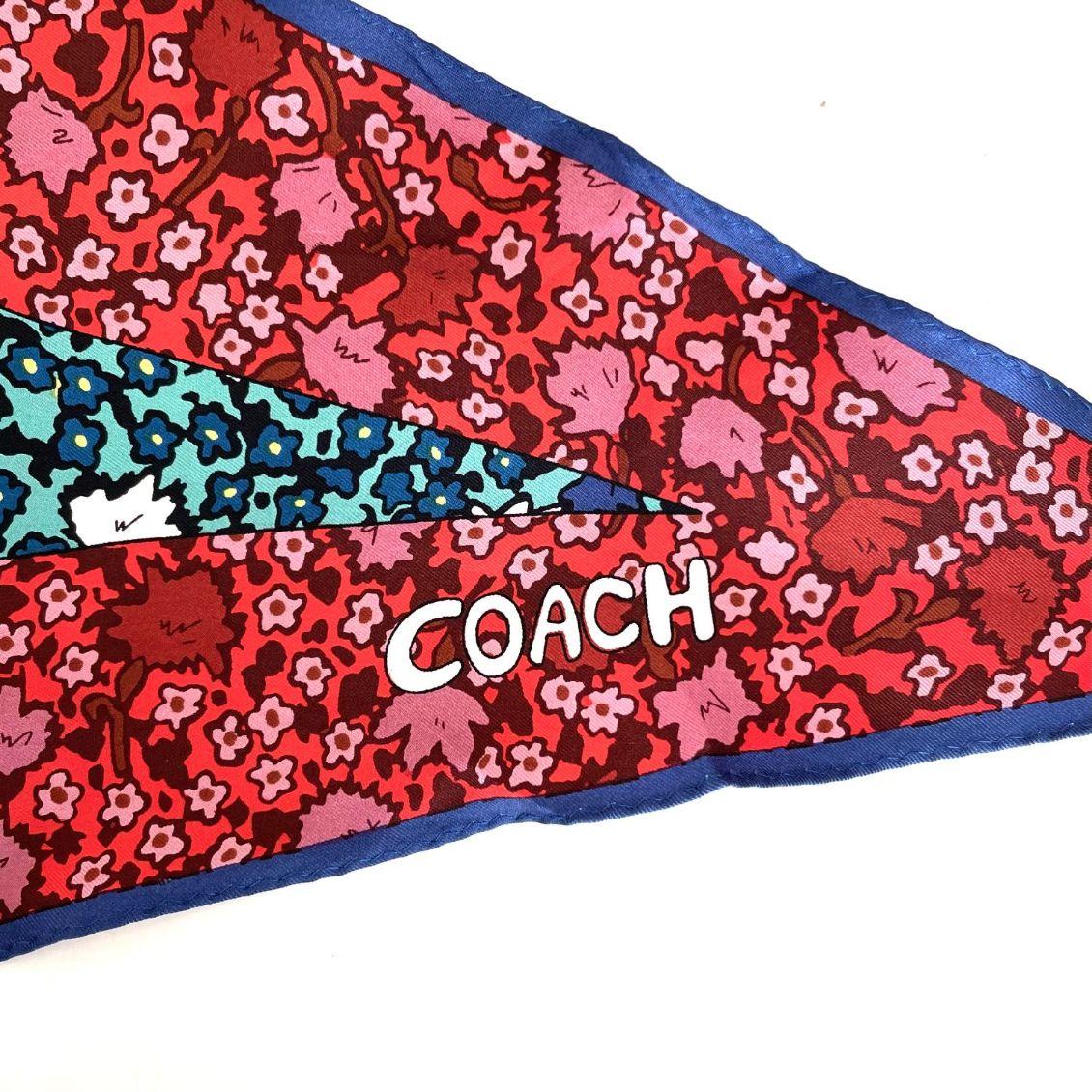 Lenço Coach Floral