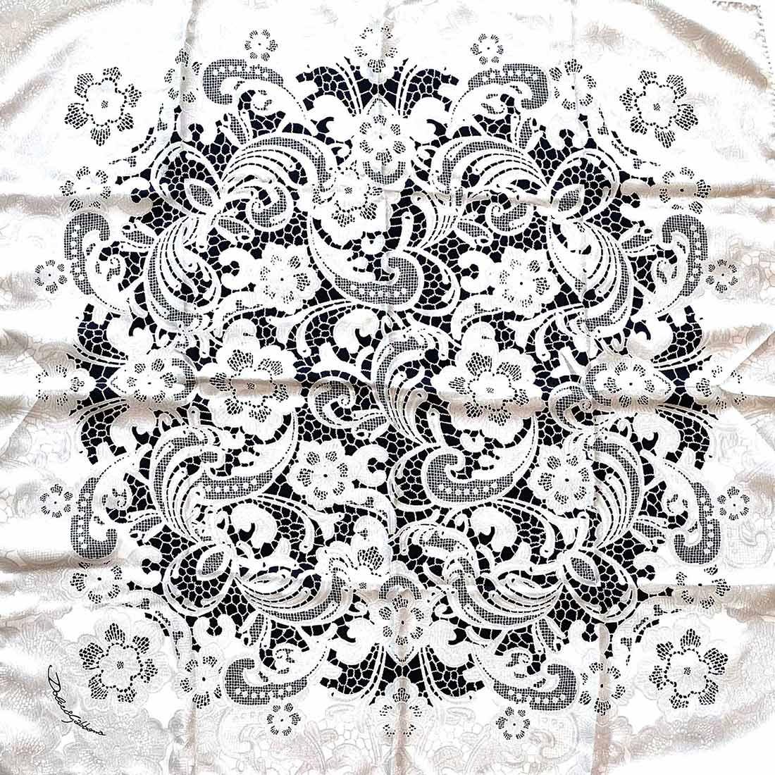 Lenço D&G Preto e Branco