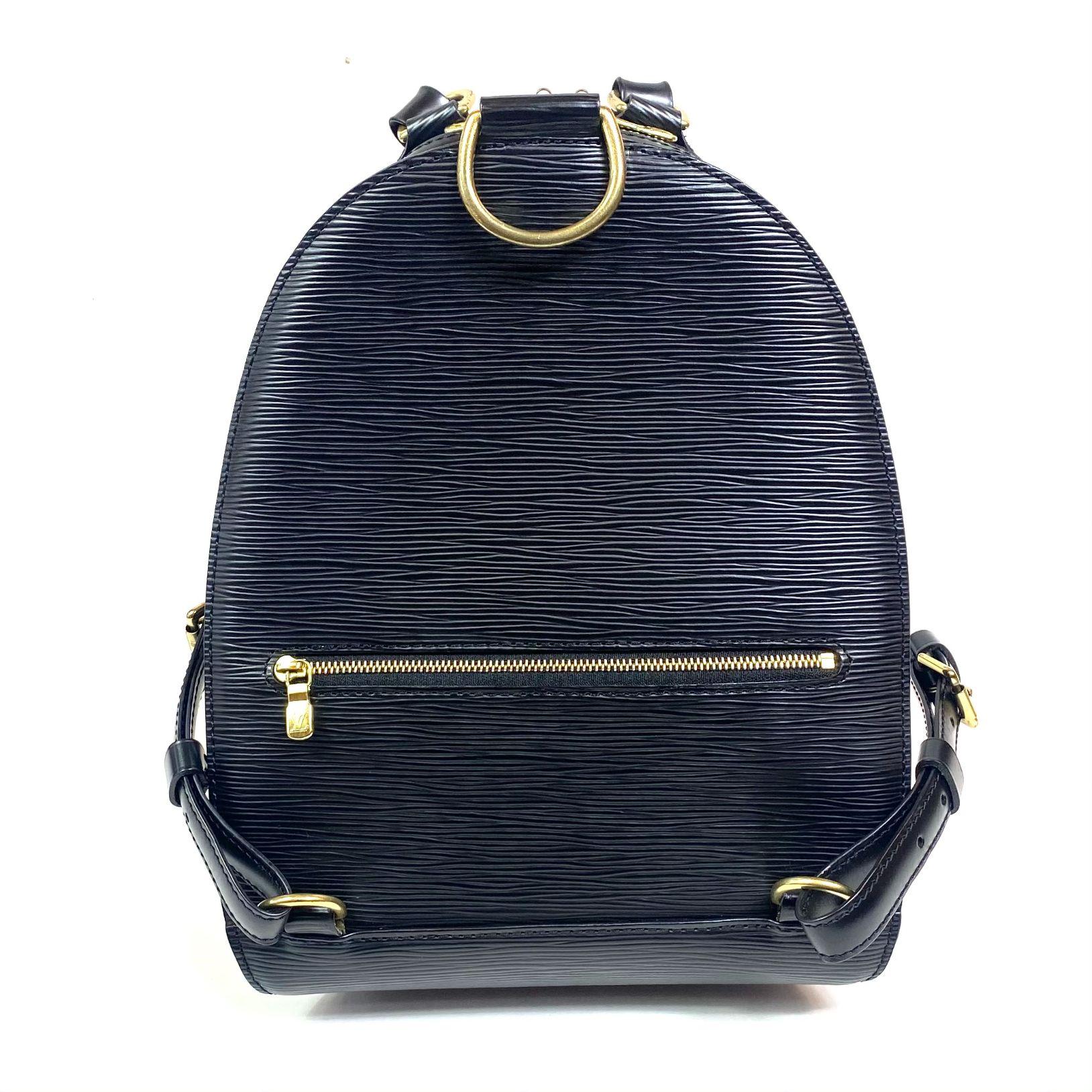 Mochila Louis Vuitton Mabillon Epi Preta