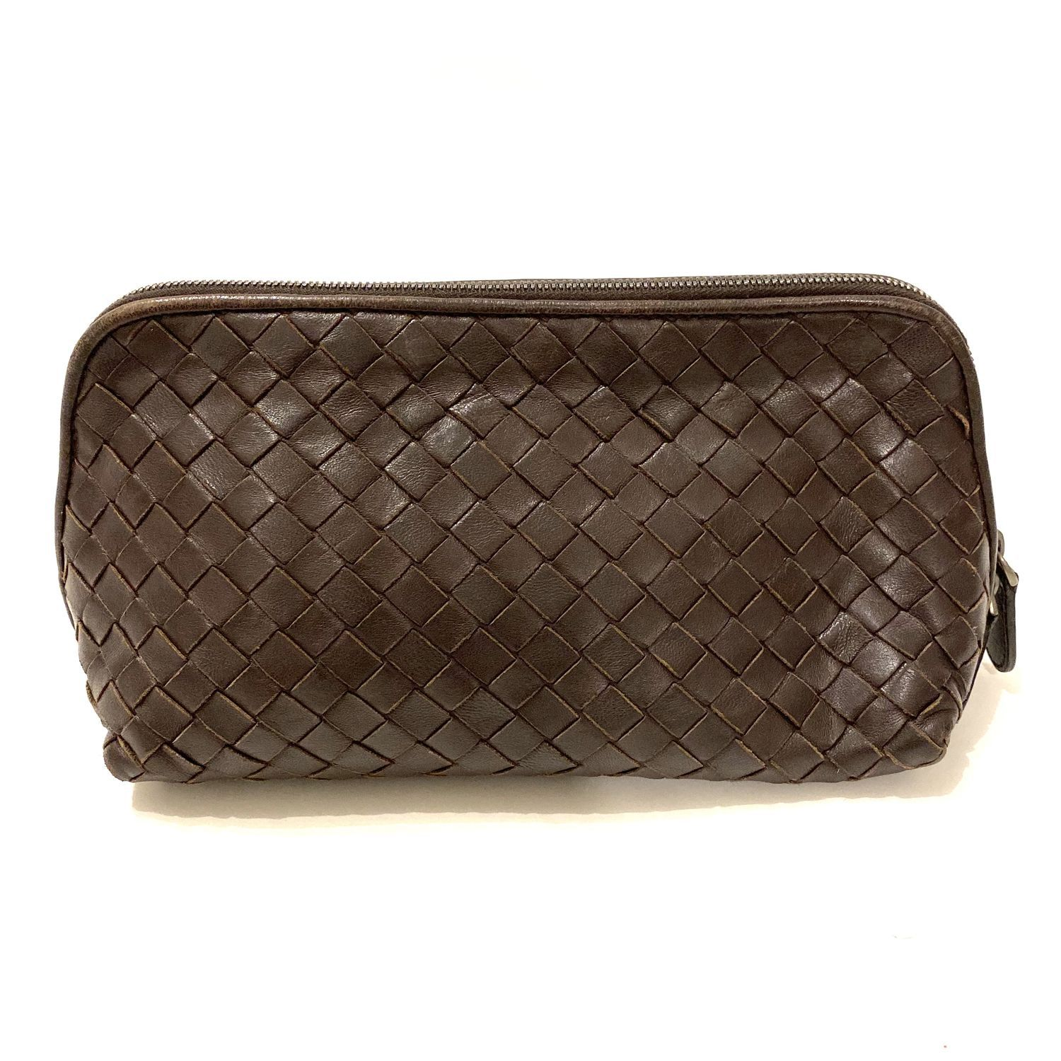 Necessaire Bottega Veneta Porta Make Intrecciato Marrom