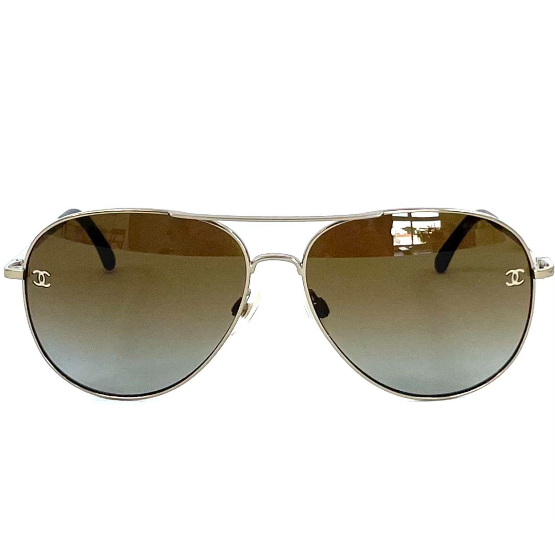 Óculos Chanel 4189-T-Q Dourado
