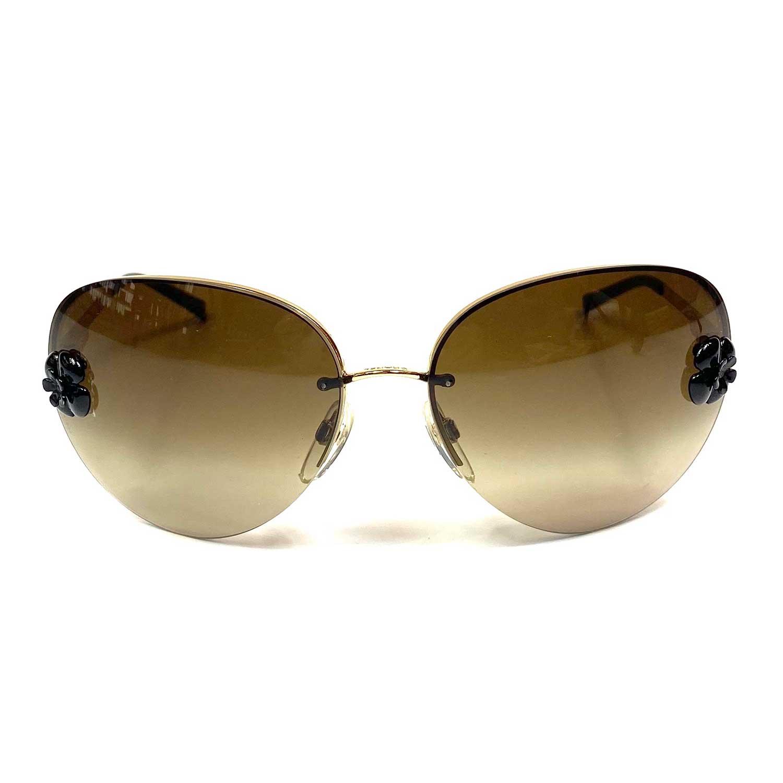 Óculos Chanel Camellia 4134 Marrom