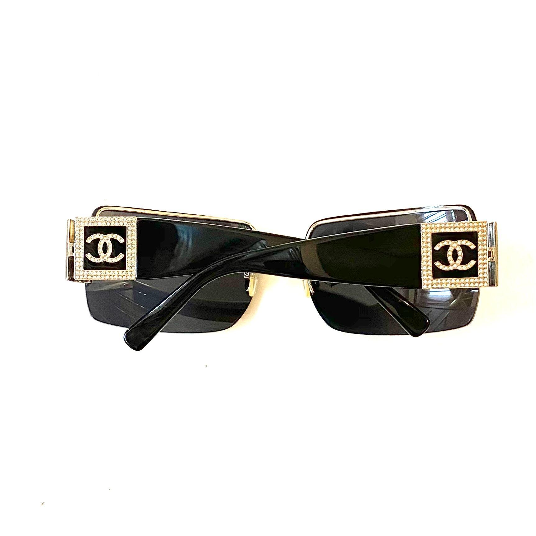 Óculos Chanel CC Crystal 4095-B Preto