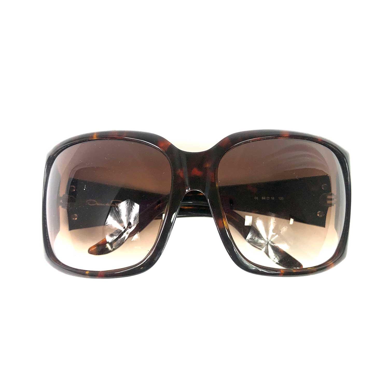 Óculos Oscar de la Renta Marrom com Strass