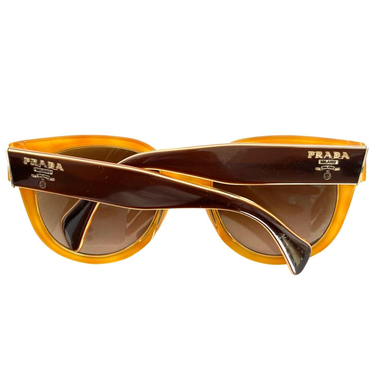 Óculos Prada Gradiente Marrom