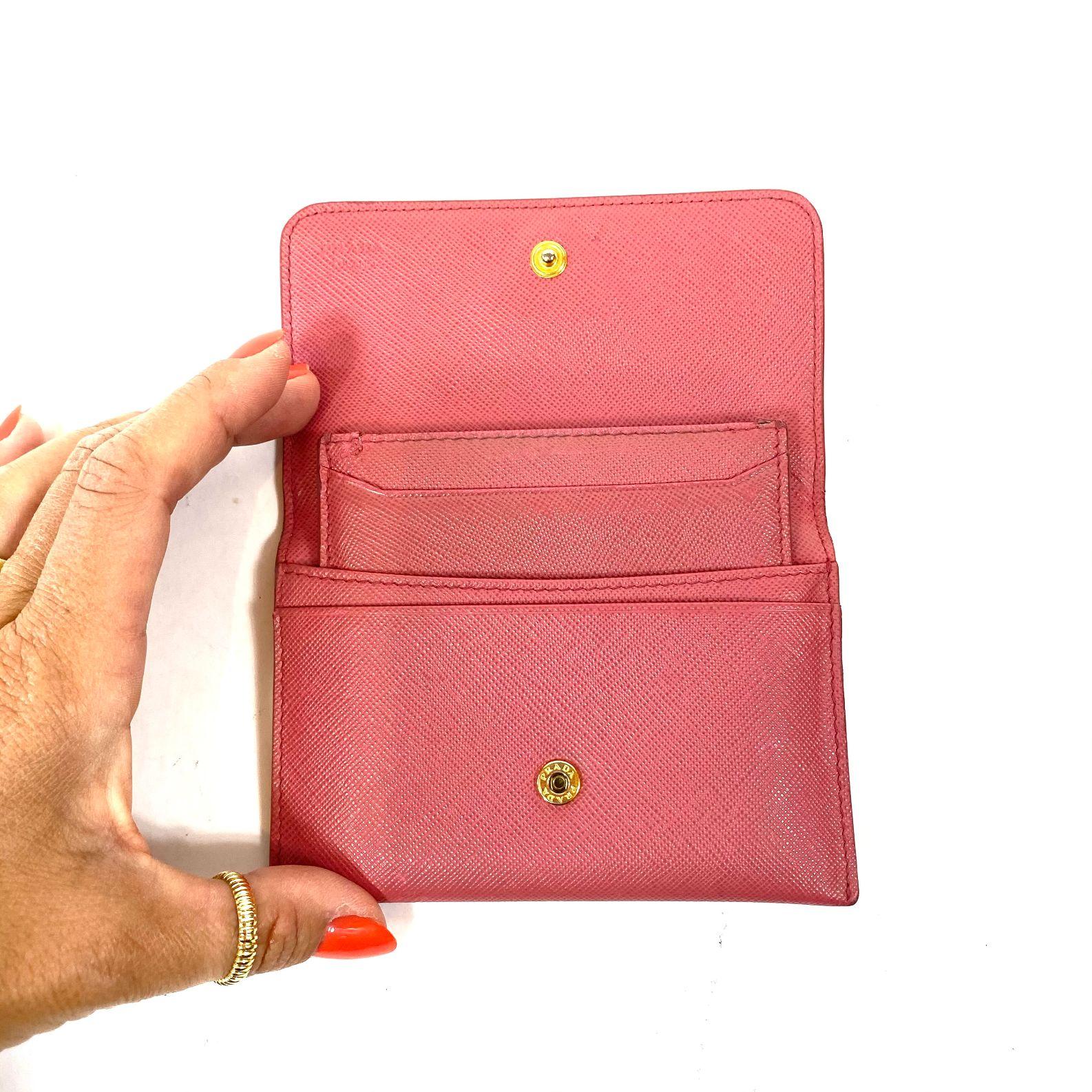 Porta Cartões Prada Saffiano Rosa