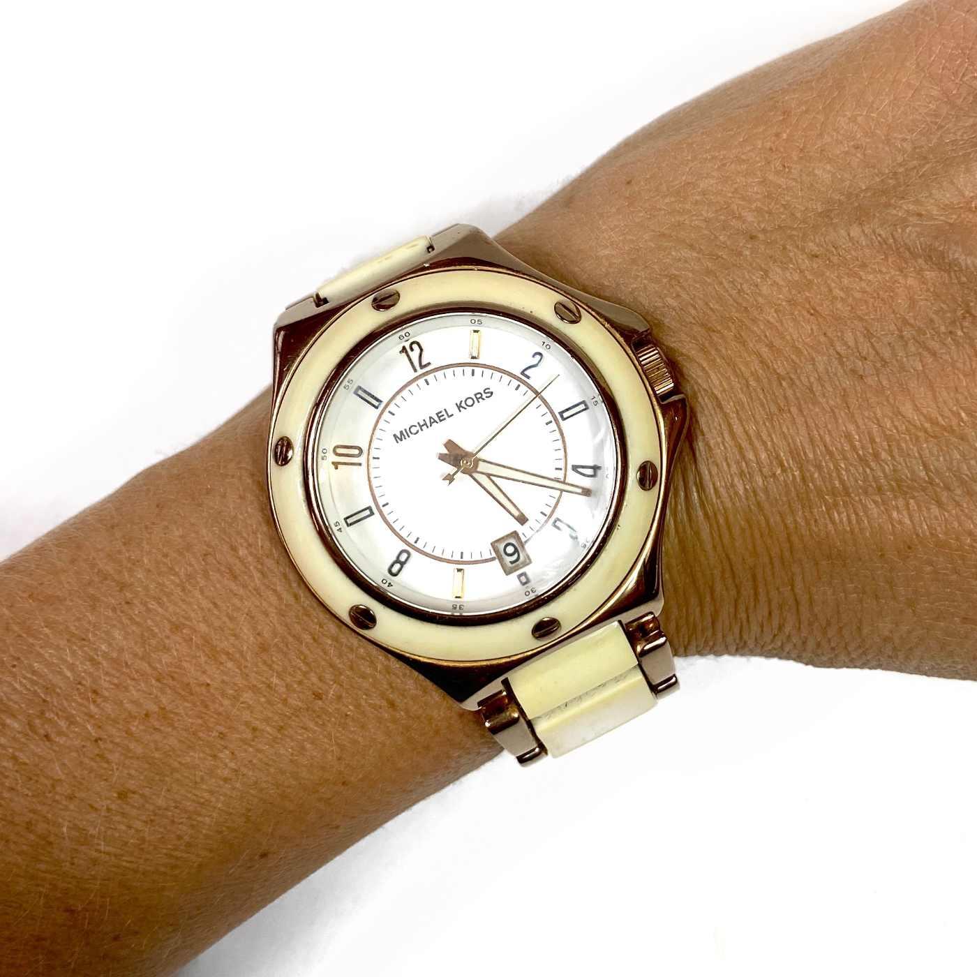 Relógio Michael Kors Marfim e Rosé